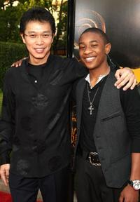 Ben Hong and Justin Martin at the premiere of