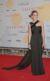 Sarah Jessica Parker at the post haute couture show gala dinner and ball in the Parco dei Daini for Valentino : 45th Anniversary Celebration.