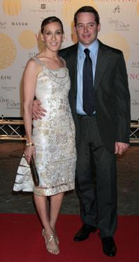 Sarah Jessica Parker and Matthew Broderick at the Valentino In Rome 45 Years Of Style post-exhibit gala dinner.