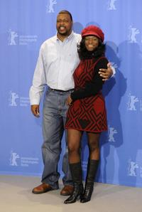 Michael J. Smith, Sr. and Tara Riggs at the photocall of