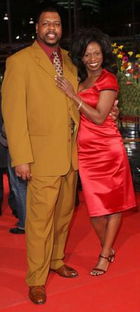 Michael J. Smith, Sr. and Tara Riggs at the premiere of