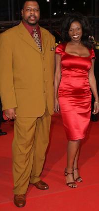 Michael J Smith Sr and Tarra Riggs at the premiere of
