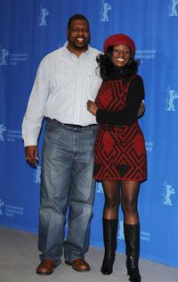 Michael J Smith Sr and Tarra Riggs at the photocall of