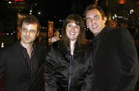 Matt Stone, Anne Garefino and Trey Parker at the Los Angeles premiere of