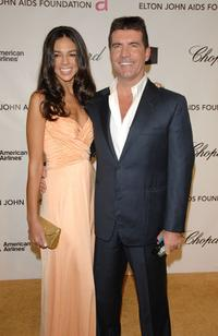 Terri Seymour and Simon Cowell at the 16th Annual Elton John AIDS Foundation Academy Awards.