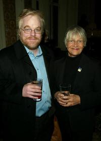 Philip Seymour Hoffman and Estelle Parsons at the 90th Anniversary of Actors Equity in New York.