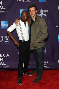 Julian A. Mitchell and Ross Partridge at the New York premiere of