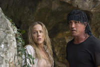 Sarah (Julie Benz) and John Rambo (Sylvester Stallone) in