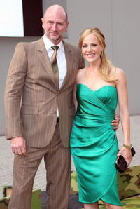 Graham McTavish and Julie Benz at the Japan premiere of