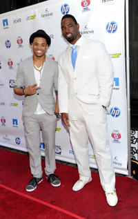 Tristan Wilds and NFL player Justin Tuck at the Giants Justin Tuck 3rd Annual