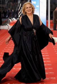 Terele Pavez at the red carpet of Goya Cinema Awards 2011 in Spain.