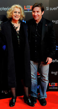 Terele Pavez and Antonio de la Torre at the red carpet of Goya Cinema Awards 2011 in Spain.