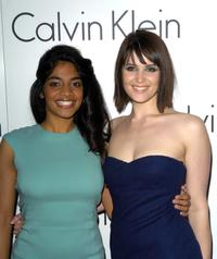 Amara Karan and Gemma Arterton at the presentation of Calvin Klein's new collection.