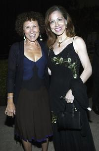 Rhea Perlman and Vicki Roberts at the Alfred Mann Foundation's Second Annual Evening of Innovation and Inspiration.