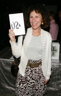 Rhea Perlman at the Lucy Liu's art exhibit and auction.