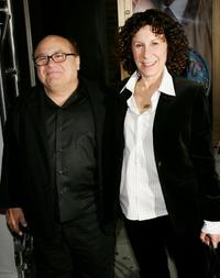 Danny DeVito and Rhea Perlman at the opening night of
