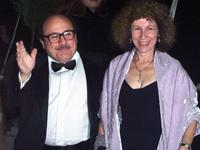 Danny DeVito and Rhea Perlman at the wedding of Michael Douglas and Catherine Zeta-Jones.