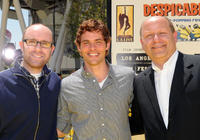 John Cohen, James Marsden and Chris Meledandri at the premiere of