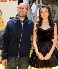 John Cohen and Miranda Cosgrove at the premiere of