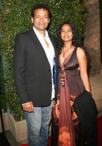 Mario Van Peebles and Guest at the premiere of