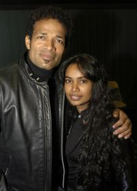Mario Van Peebles and Chitra Van Peebles at the Tribeca Film Festival.