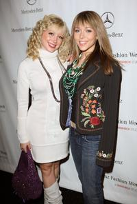 Courtney Peldon and Ashley Peldon at the Mercedes Benz Fashion Week.