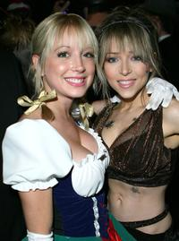 Courtney Peldon and Ashley Peldon at the Halloween party to celebrate the premiere of