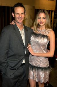 Peter Berg and Estella Warren at the premiere of