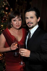 Elizabeth Pena and Freddy Rodriguez at the after party of the premiere of