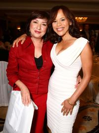 Elizabeth Pena and Rosie Perez at the Hollywood Foreign Press Association's Annual summer luncheon.