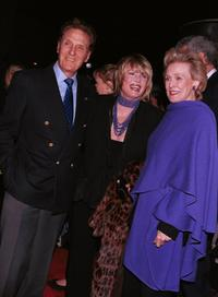 Robert Stack, his wife Rosemary and Frances Bergen at the Gregory Peck Readings Gala.