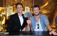 Tom Hiddleston and Chris Hemsworth at the Day 3 of Comic-Con 2010.