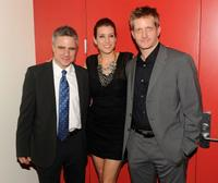 Neil Pepe, Kate Walsh and Paul Starks at the opening night of