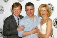 William H. Macy, Neil Pepe and Felicity Huffman at the Atlantic Theater Company's Spring Gala.