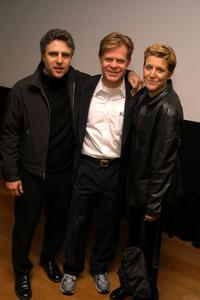 Neil Pepe, William H. Macy and Mary McCann at the screening of
