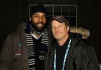 Producer Baron Davis and Stacy Peralta at the premiere of