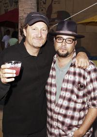 Stacy Peralta and Producer John Linson at the premiere of