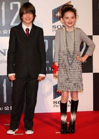 Liam James and Morgan Lily at the Japan premiere of