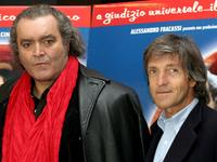 Diego Abatantuono and Carlo Vanzina at the photocall of