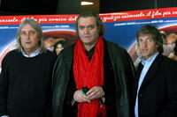 Enrico, Diego Abatantuono and Carlo Vanzina at the photocall of