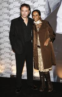 Vincent Perez and Karine Silla at the French premiere of ''Casino Royale.