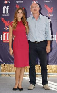 Kasia Smutniak and Davide Ferrario at the 2009 Giffoni Film Festival.