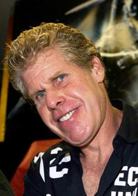Ron Perlman at the Golden Apple Comic Store.