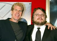 Ron Perlman and Guillermo Del Toro at the premiere of