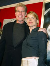 Ron Perlman and Linda Hamilton at the premiere of
