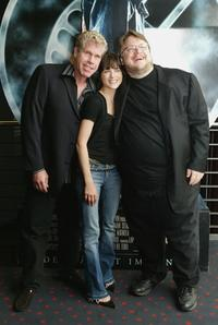 Ron Perlman, Selma Blair and Guillermo del Toro at the photocall of the German premiere of