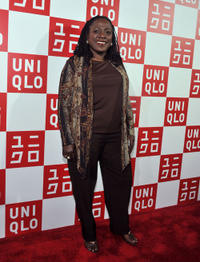 Sharon Jones at the UNIQLO's 5th Avenue Global Flagship Store Opening in New York.