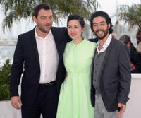 Denis Menochet, director Rebecca Zlotowski and Tahar Rahim at the photocall of