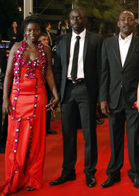 Djeneba Kone, Diouc Koma and director Mahamat-Saleh Haroun at the premiere of