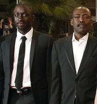 Diouc Koma and director Mahamat-Saleh Haroun at the premiere of